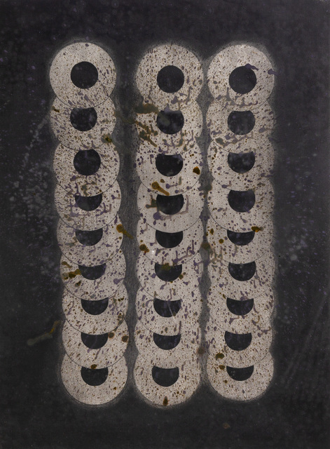 Paul Neagu, 'Unnamed (London)', 1990, Painting, Mixed media on paper, Flowers