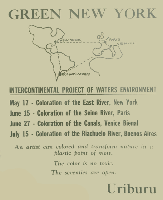 Nicolás García Uriburu, 'East River Coloration, New York', 1970, Herlitzka + Faria