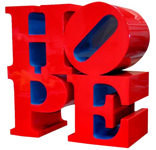 Robert Indiana, 'HOPE (red/ blue)', 2009, Woodward Gallery