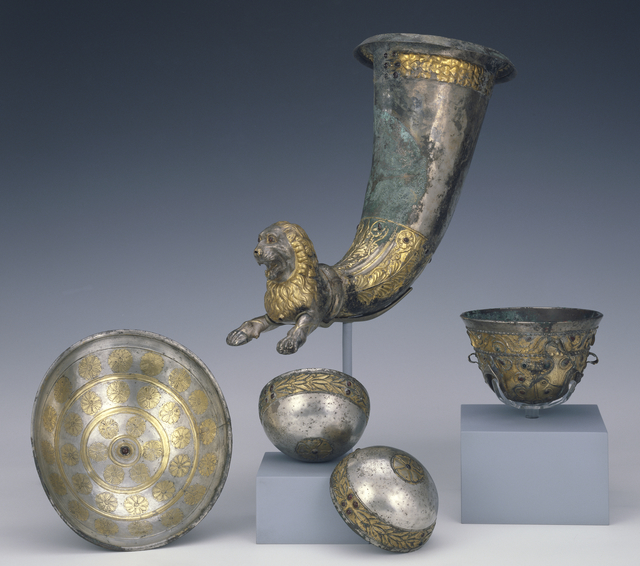 'Group of Five Vessels',  Bactrian Empire, J. Paul Getty Museum