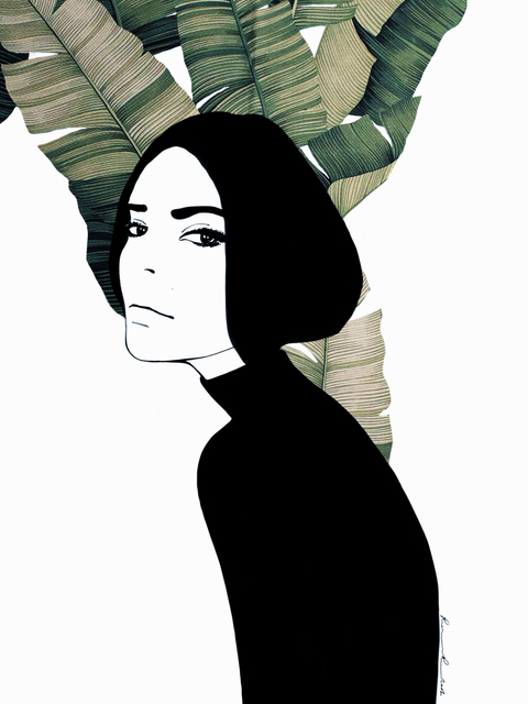 , 'The girl with black hair/ Maquis 1,' 2019, Artig Gallery