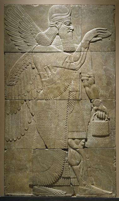 'Relief with Winged Genius', 883-859 B.C., Walters Art Museum