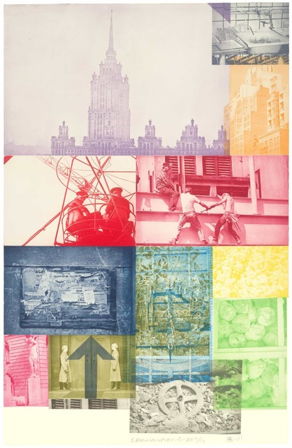 Robert Rauschenberg, 'Soviet/American Array VII', 1989-91, Print, Intaglio in 14 colors on Saunders paper, Universal Limited Art Editions