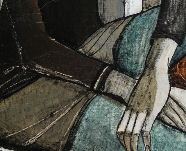 Lucio Ranucci, 'Woman in Chair', 1970, Painting, Oil on canvas, RoGallery