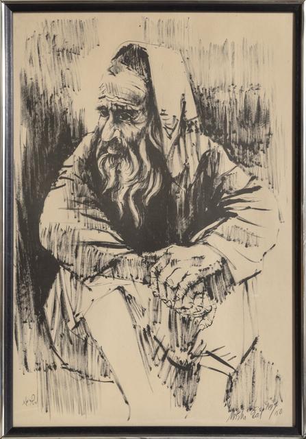 Moshe Gat, 'Seated Man', ca. 1970, RoGallery