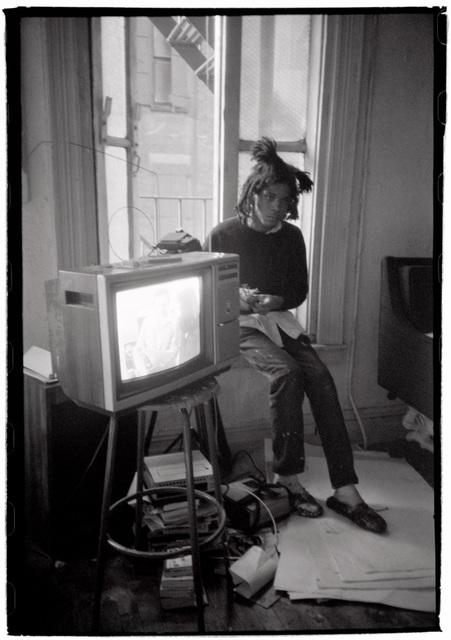 , 'Basquiat with TV Set,' 1983, Galerie Peter Sillem
