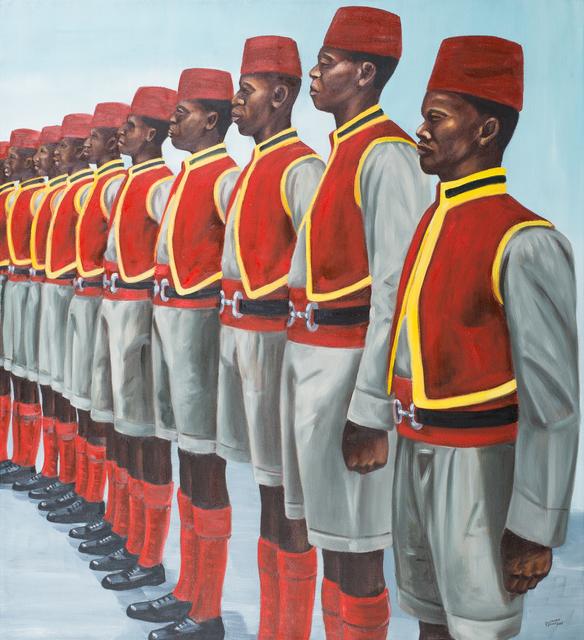 , 'Defence team,' 2017, Africa Bomoko