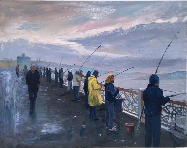 Thomas John Carlson, 'Istanbul Bridge', 2014, Painting, Oil on panel, Deep Space Gallery