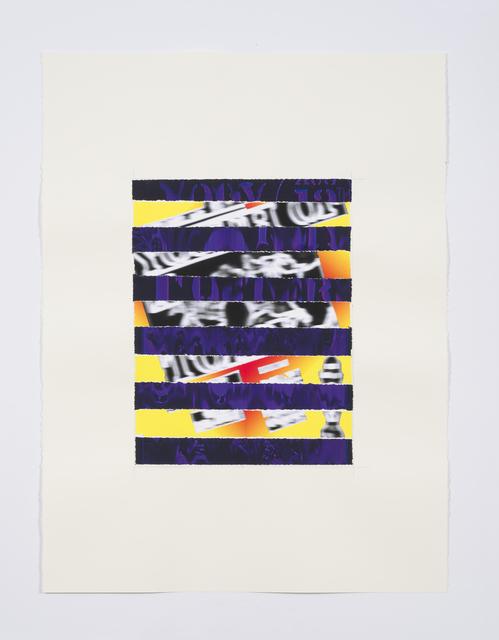 , 'JFA Youth Stripe,' 2016, Anthony Meier Fine Arts