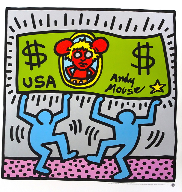 Keith Haring, 'Andy Mouse', 1986, Wallector