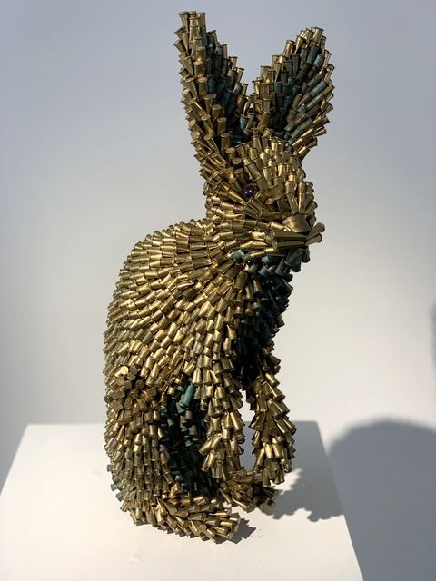, 'Gold and Green Rabbit,' 2015, Adelson Cavalier Galleries
