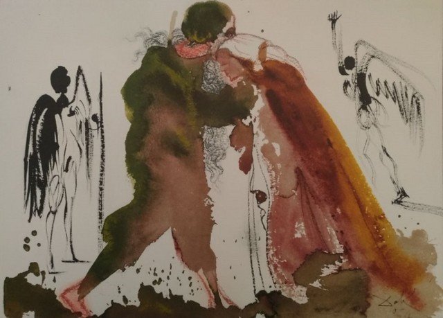 "Salvador Dalí, 'Ipse coniungat vos - From ""Biblia Sacra""', 1964, Wallector"