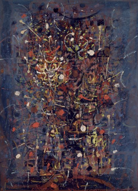, 'Untitled [Fireworks],' 1950, Peggy Guggenheim Collection