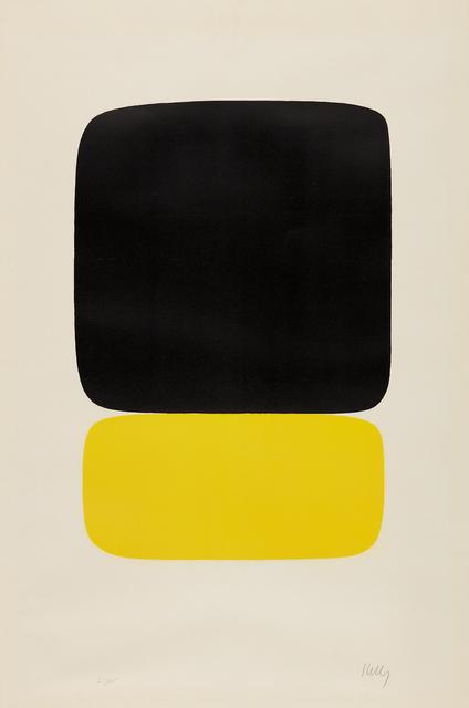 Ellsworth Kelly, 'Black over Light Yellow', 1964-1965, Phillips