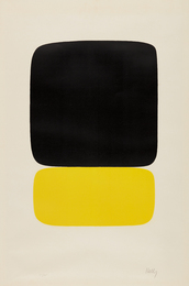 Ellsworth Kelly, 'Black over Light Yellow,' 1964-1965, Phillips: Evening and Day Editions (October 2016)