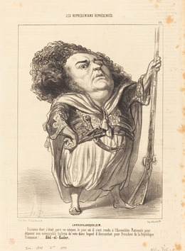 Honoré Daumier, 'Henri de Larochejacquelein', 1849, National Gallery of Art, Washington, D.C.