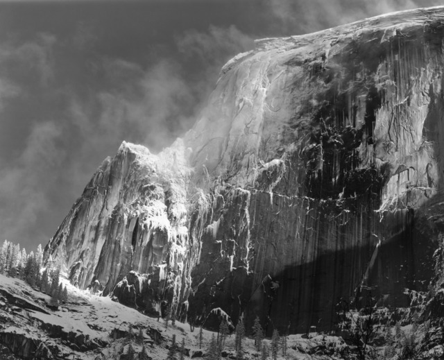 , 'Half Dome, Blowing Snow, Yosemite National Park, California,' ca. 1955, The Ansel Adams Gallery