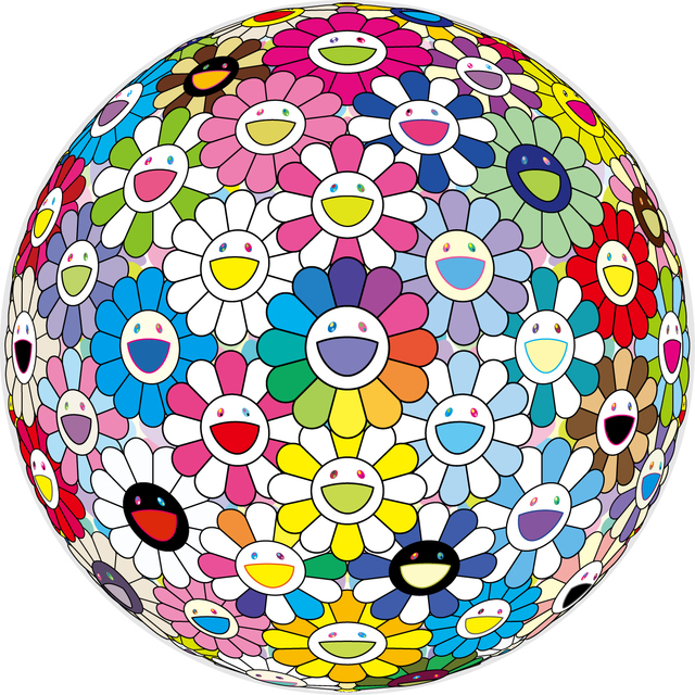Takashi Murakami, 'EXPANDING UNIVERSE', 2018, Print, Offset print, with silver and high gloss varnishing, Dope! Gallery