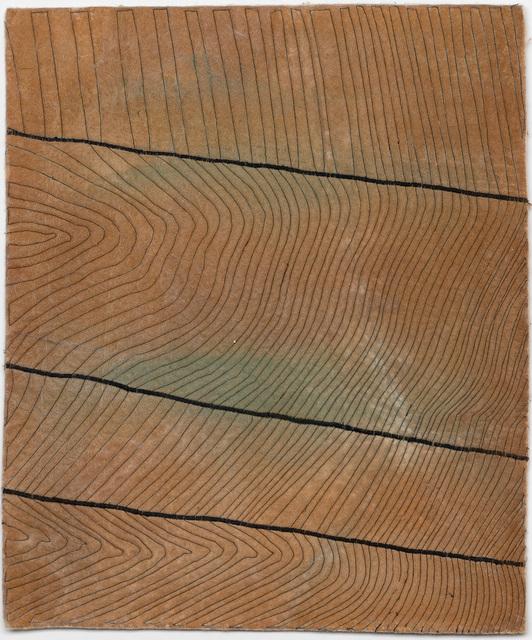 Raul Walch, 'NonWoven Semaphore: Boxberg', 2021, Mixed Media, Non-woven fabric, earth pigments, acrylic, thread, Aki Gallery