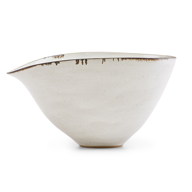 Lucie Rie, 'Fine large bowl with indented lip, England', ca. 1958, Rago
