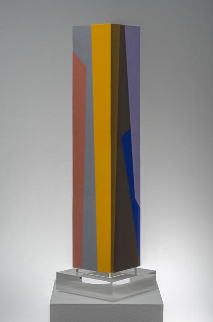 Karl Benjamin, 'Column #1', 1987, Painting, Oil on canvas mounted on wood, Louis Stern Fine Arts