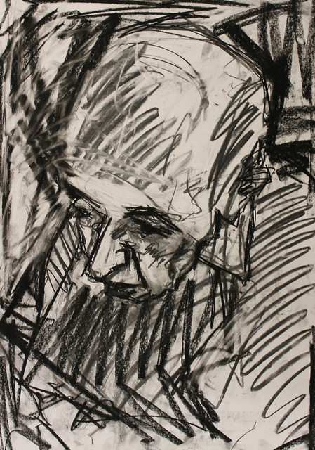, 'Ken i charcoal ,' 2017, Castlegate House Gallery