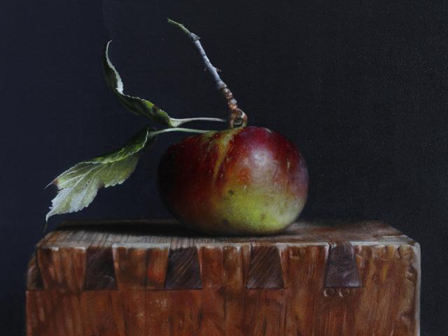 , 'Wild Apple on a Box,' 2018, William Baczek Fine Arts