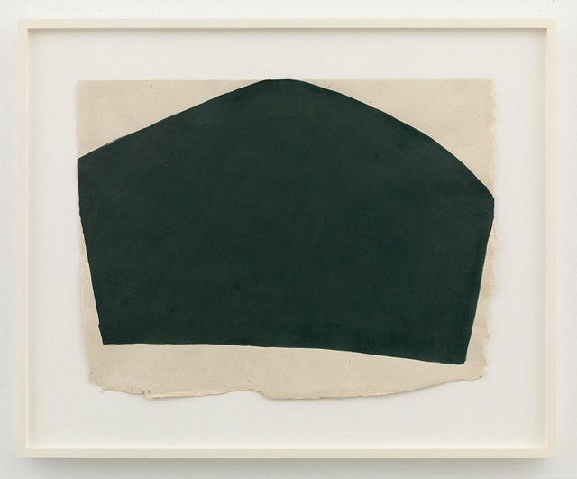 , 'lifted dark green composition touching top and two sides,' 2013, David Zwirner