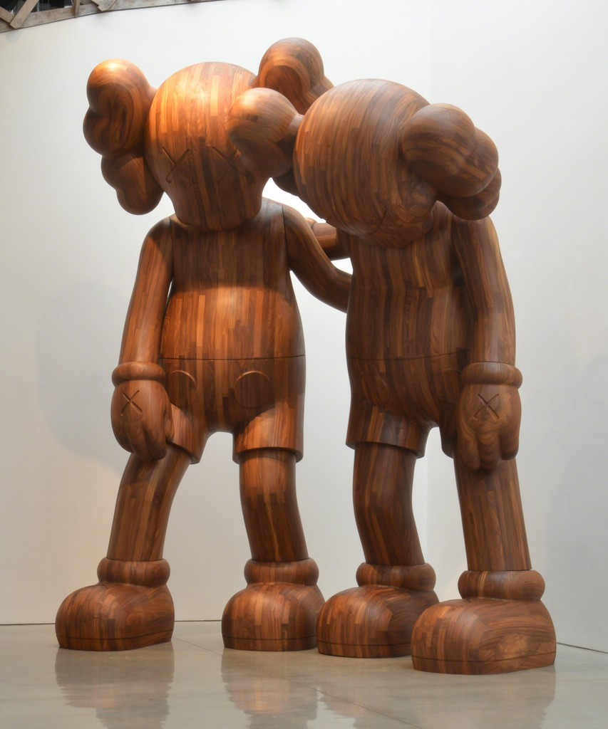 "Installation view of ""KAWS: WHERE THE END STARTS"" at Modern Art Museum of Fort Worth, Fort Worth (2016). Image courtesy of Modern Art Museum of Fort Worth. 