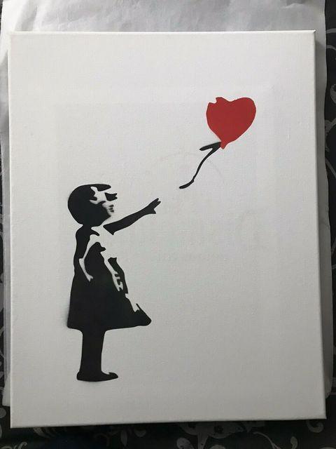 Banksy, 'BANKSY DISMALAND BALLOON GIRL CANVAS FRAMED', 2015, Arts Limited