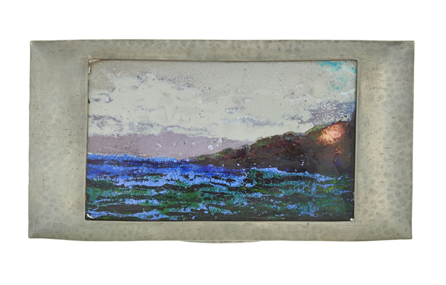 Attributed to F. C. Varley, 'Tudric cigar/cigarette box with seascape', Rago