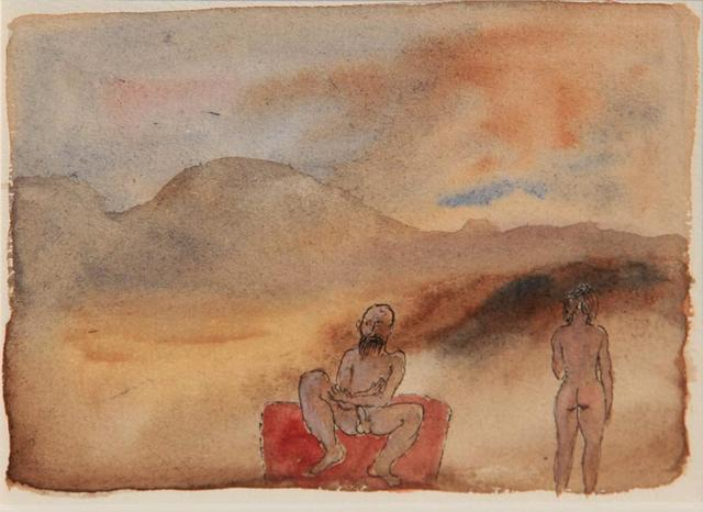 , 'Untitled (Man and woman in landscape),' Undated, The Noble Sage Collection