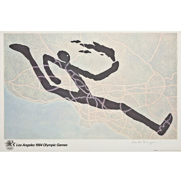 , 'LOS ANGELES OLYMPIC GAMES 1984, Limited Edition; Pencil Signed with Certificate of Authenticity from Publisher (Framed),' 1982, Alpha 137 Gallery