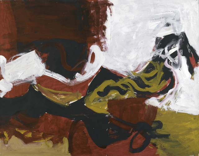 , 'Untitled (Black, White, Red, and Brown III),' ca. 1955, Berry Campbell Gallery