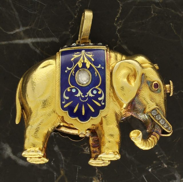 , 'Unsigned Swiss Form Watch in the shape of an Elephant,' 1880, Somlo London