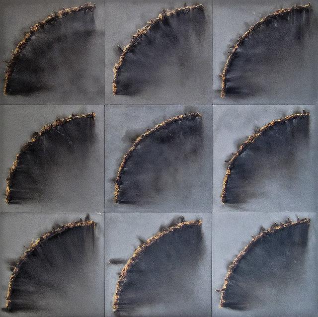 """, '""""Polyptyque 9 modules"""",' 1991, Galerie Dutko"""
