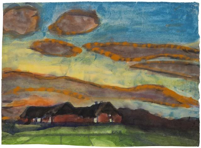 , 'Seebüll Farm in Nordfriesland - Evening Mood,' 1935-1940, Galerie Thomas