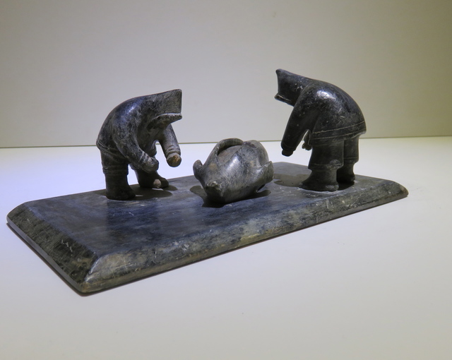 , 'Hunters with a seal ,' ca. 1960, Arctic Experience McNaught Gallery