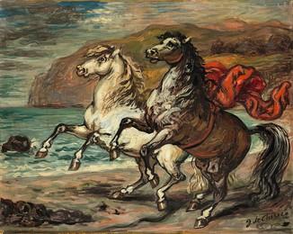 Cavalli presso un golfo