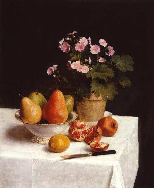 Henri Fantin-Latour, 'Still life (primroses, pears and pomegrenates)', 1866, Kröller-Müller Museum