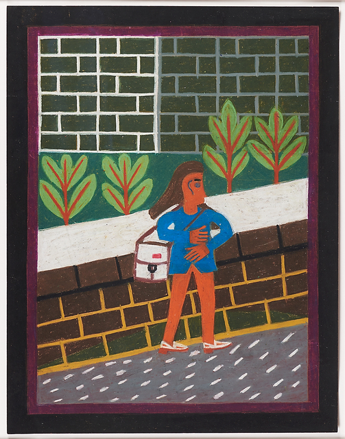 Eddie Arning, 'Woman Walking Uphill', ca. 1970, Rago