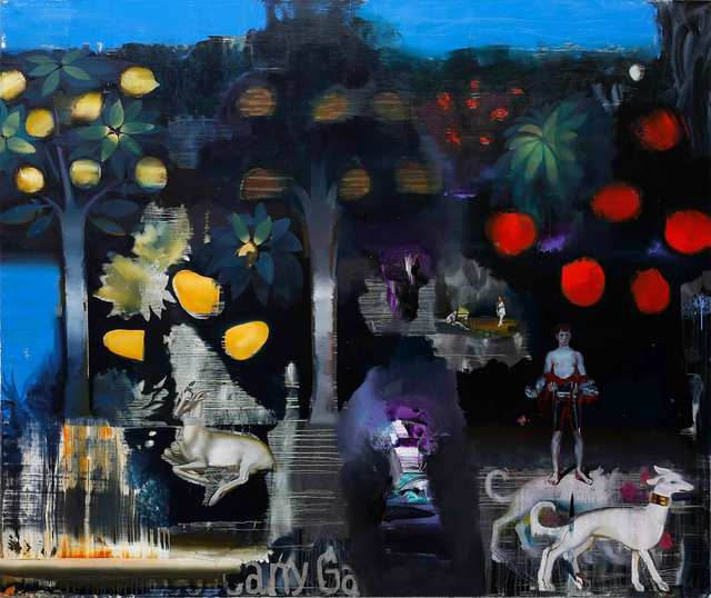 Rayk Goetze, 'The Weiher', 2021, Painting, Oil and acrylic on canvas, Josef Filipp Galerie
