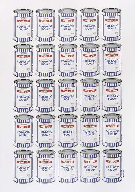 Banksy, 'Soup Cans Poster', 2010, Ephemera or Merchandise, Offset lithograph in colours on paper, Tate Ward Auctions