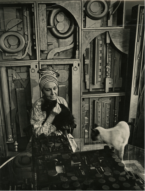 , 'Louise Nevelson with her cats,' 1975, Thomas French Fine Art