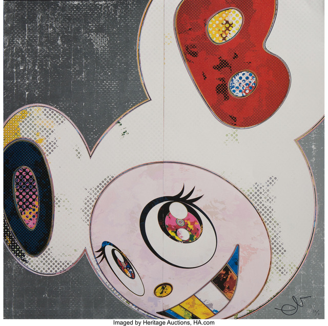 Takashi Murakami, 'DOB in Pure White Robe (Navy and Vermillion)', 2013, Heritage Auctions