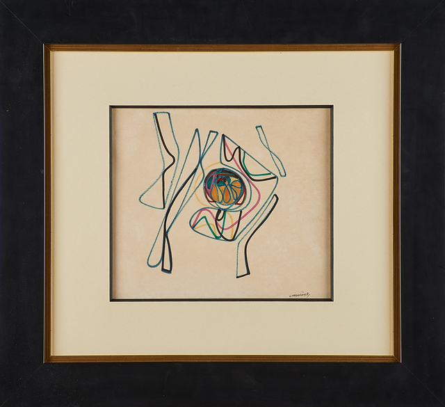 Victor Magariños, 'Untitled', Drawing, Collage or other Work on Paper, Felt tipped pen on paper (framed), Rago/Wright