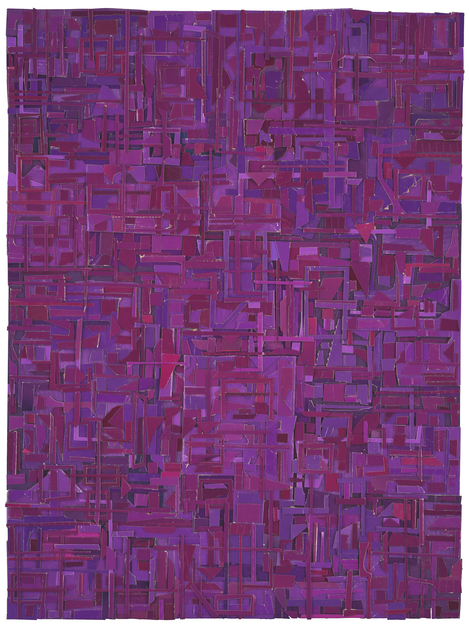 , 'Derivations (in purple),' 2018, Dolby Chadwick Gallery