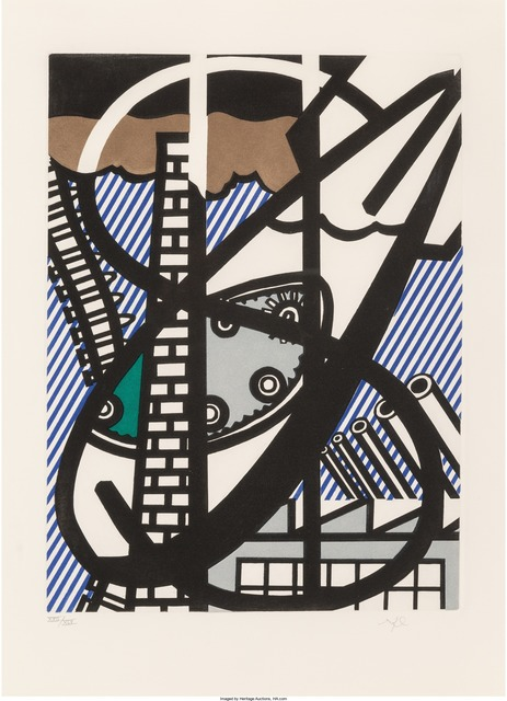 Roy Lichtenstein, 'Windown Open on Chicago', 1992, Print, Etching with aquatint and embossing in colors on Arches paper, Heritage Auctions