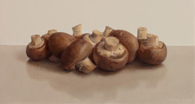 Comhghall Casey, 'Chestnut Mushrooms', 2013, Alan Kluckow Fine Art