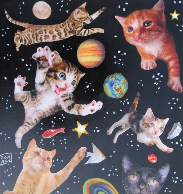 Zoa Ace, 'Space Cats #3', 2018, Abend Gallery